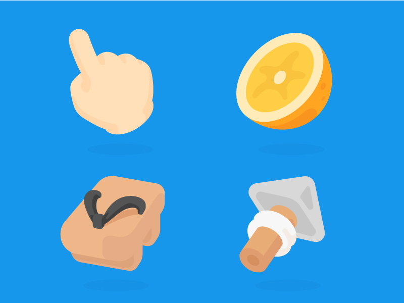 Onion Math Topic-Icons by Fengquan Li