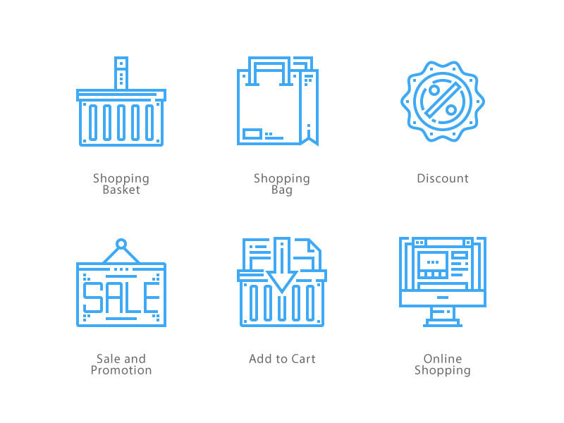 Online shopping icon pack by Unlimiticon