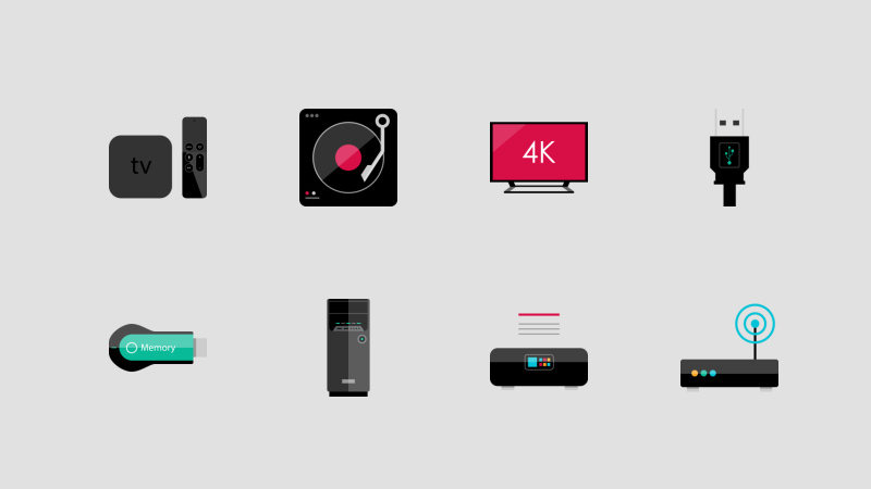 Photo realistic Electronic device icon collection by Alfredo Hernandez