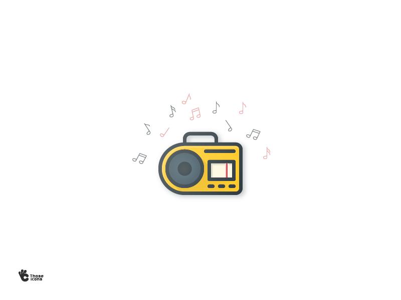 Radio icon by Imola Meder
