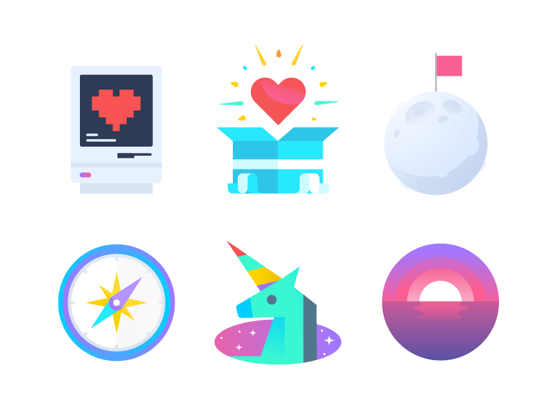 Rando icons by Nick Slater