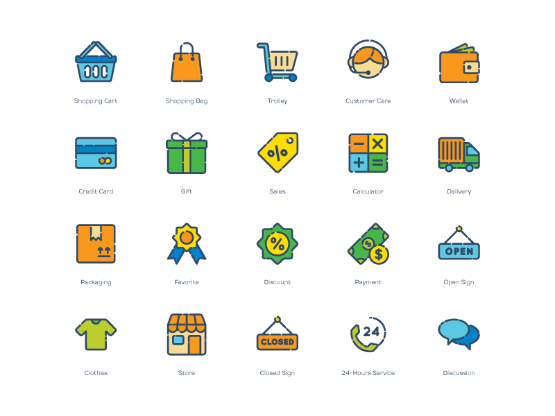 Shopping iconset by Inipagi studio