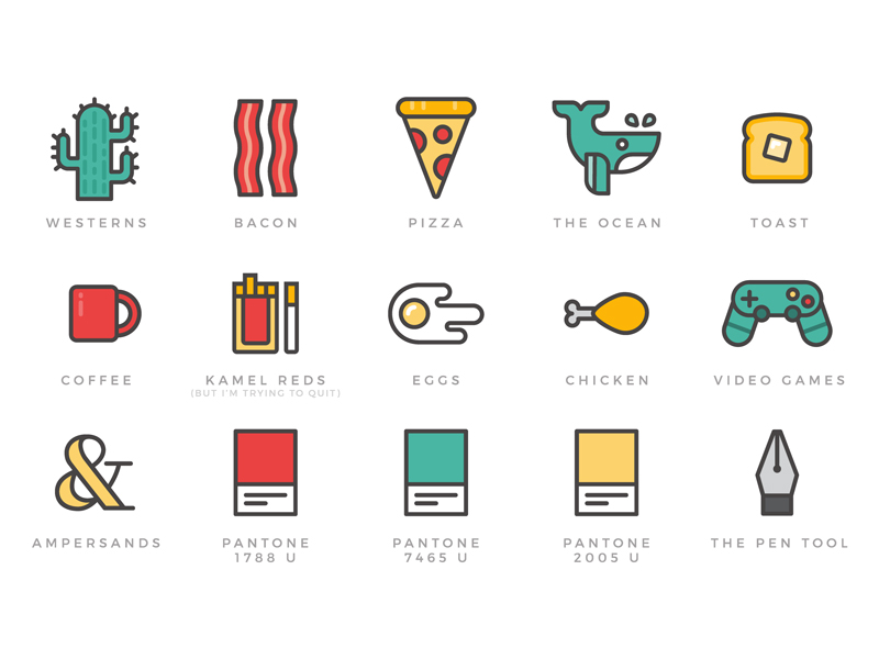 Simple things icon pack by Jess Vandenberg