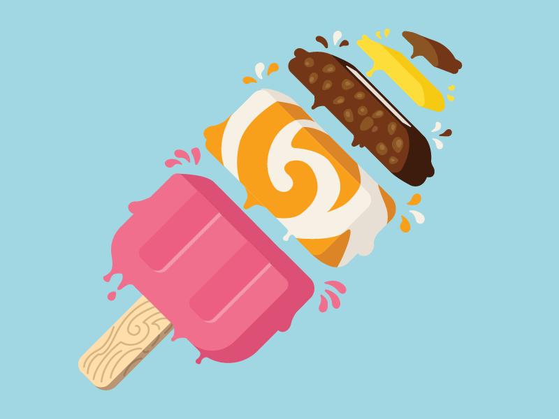 Split Ice Cream by Michal Luczak
