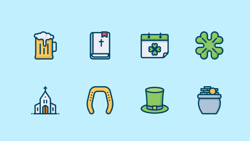 Spring icon collection by Dmitry Miroliubov