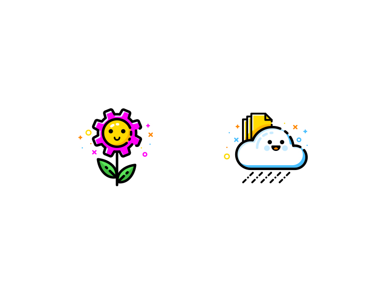 Spring icons by Alena Mushtei