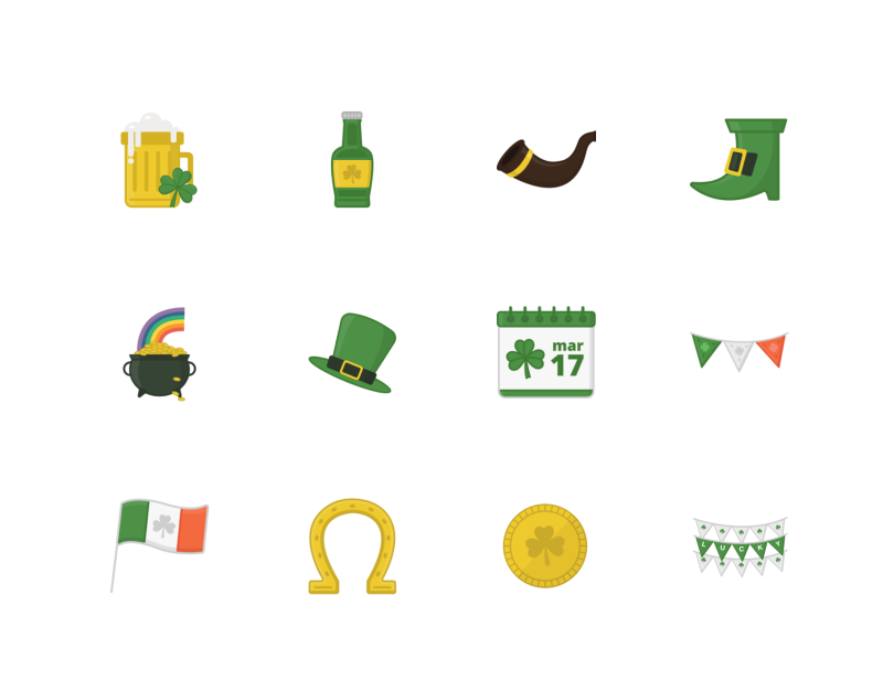 St. Patrick's Day Icons by Aarthi Padmanabhan