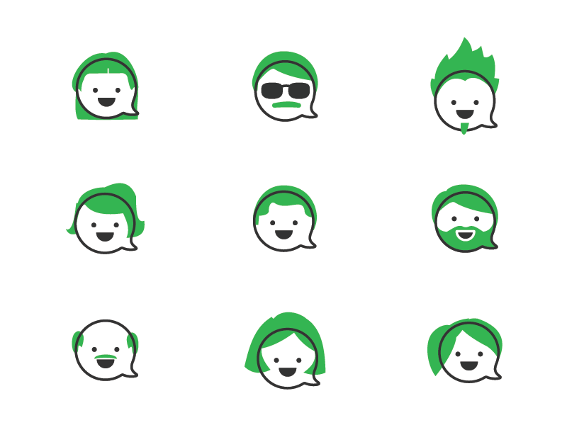 User Avatars for Flock icon collection by Aaron Durham