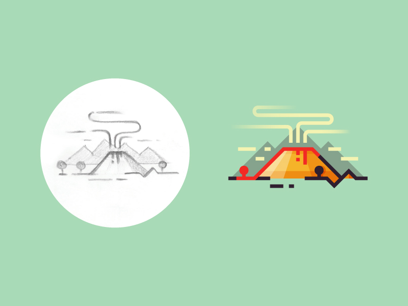 Volcanic Eruption by Infographic Paradise