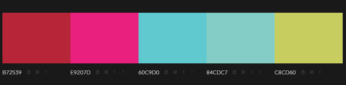 15 Colormind quick color palette
