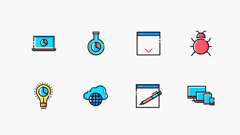Web SEO and Development icon collection by Chamestudio