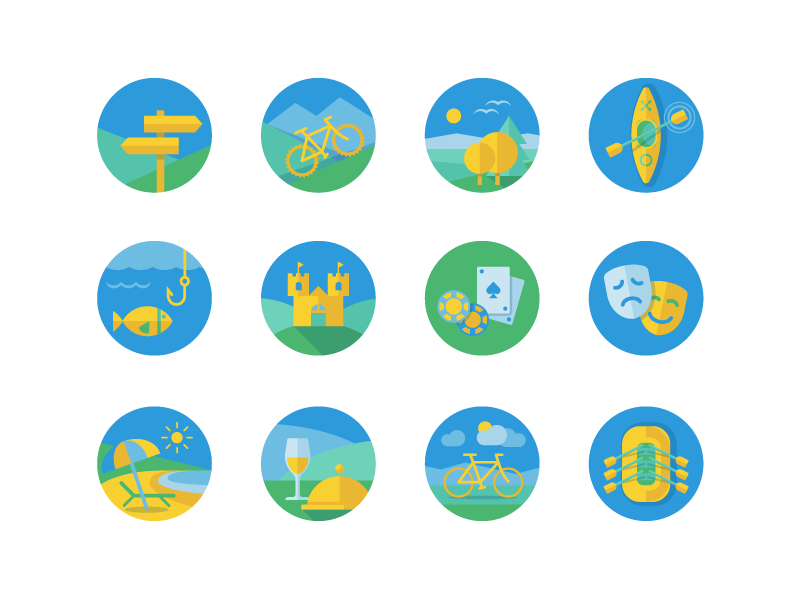 Activities Icons by Lingaile Ziukaite