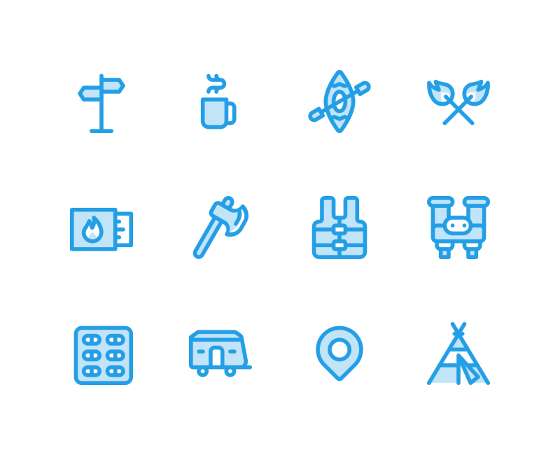Adventure tiny icon collection by Jemis Mali