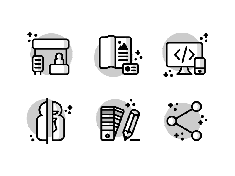 Agency website icon set by Daniele De Santis