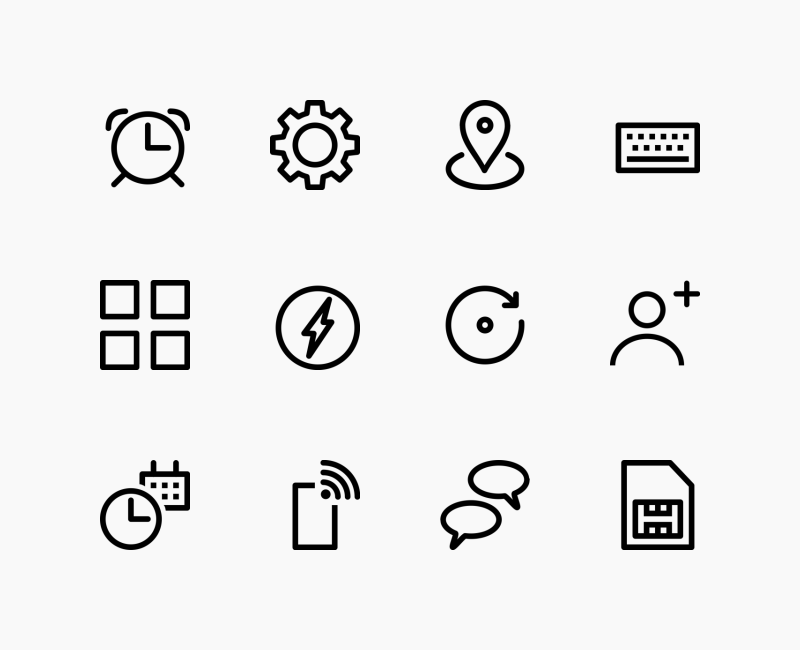 Android User Interface icon set by Jemis Mali