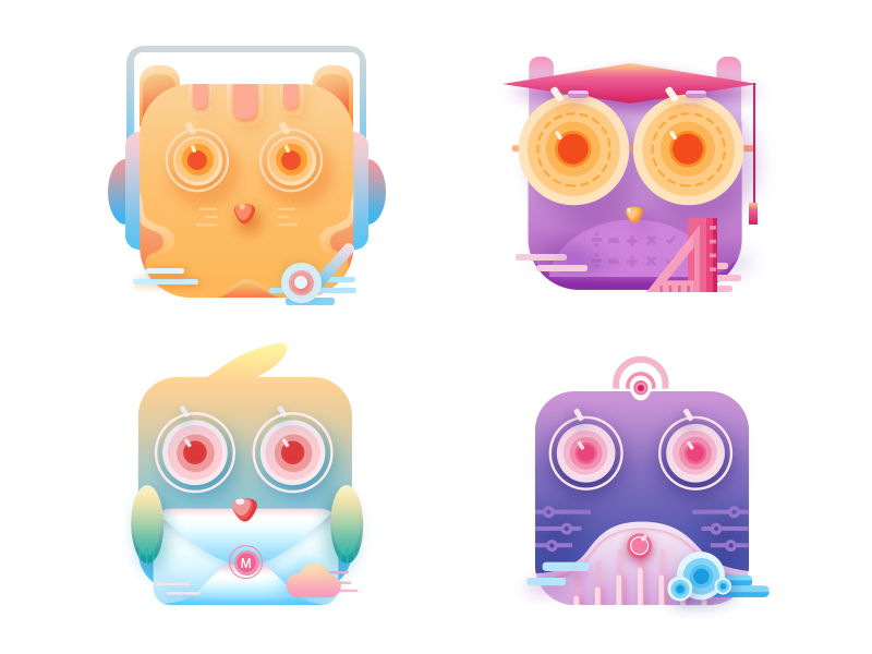 Animal theme icon collection by Cat-xuan