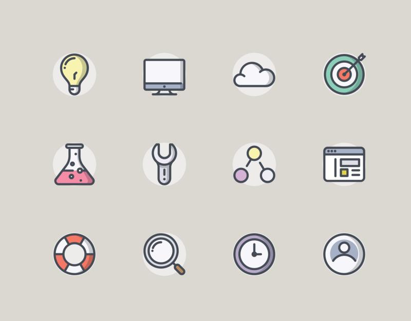 App SEO Bolt Round icon collection by Sergei Kokota