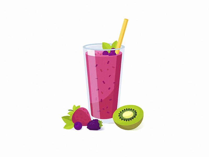 Berry-smoothie illustration by Darya Semenova