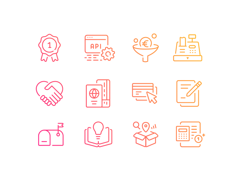 Business Management icons by Lila Bardenova
