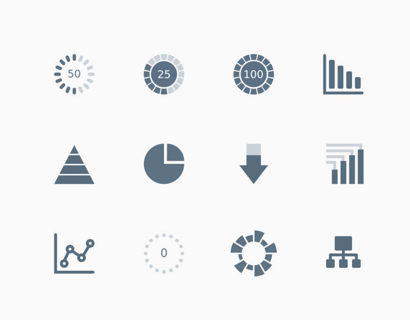 Chart And Graphs icon set by Chamestudio