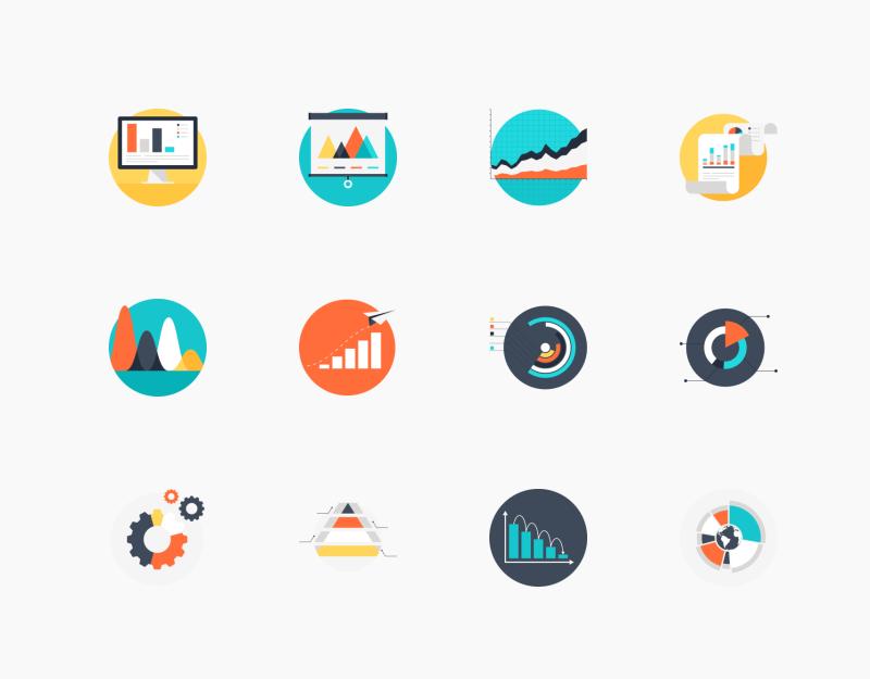 Charts And Diagrams icons by Maxim Basinski