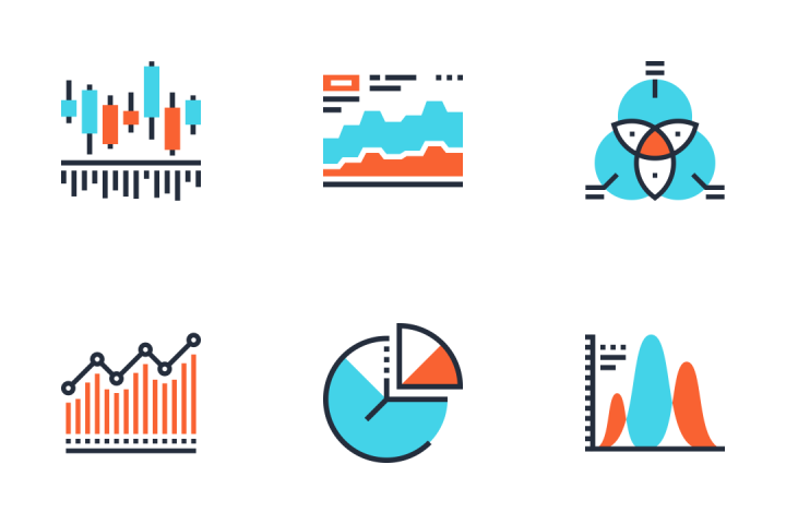 Charts And Diagrams infographic icons by Maxim Basinski