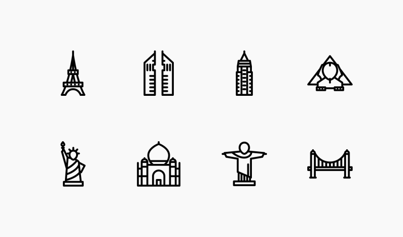 City Outline icons by Nikita Golubev