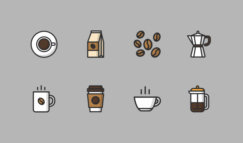 Coffee icon pack by AomAm