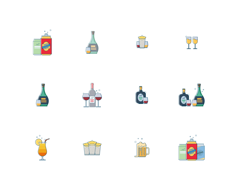 Drinks And Beverages icons by Jemis Mali