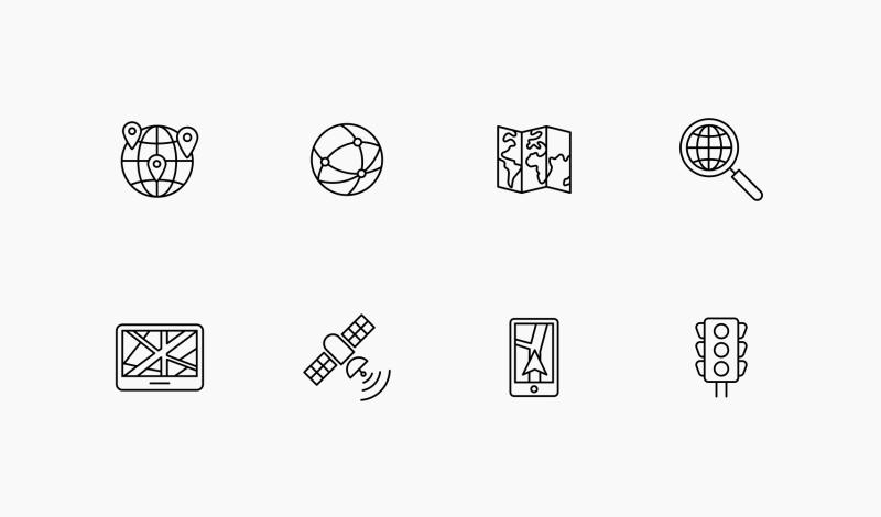 Earth and Location icons by Nikita Kozin