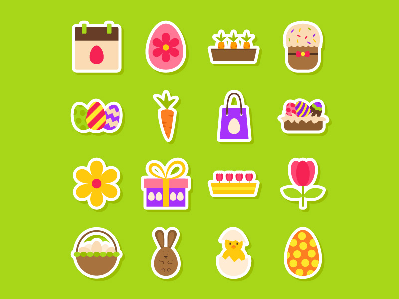 Easter sticker icon pack by Anna Sereda