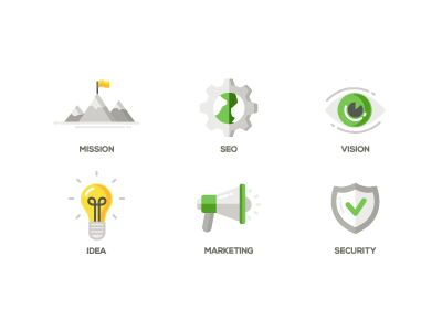 Flat Design Business Icons by Ilya Boyko