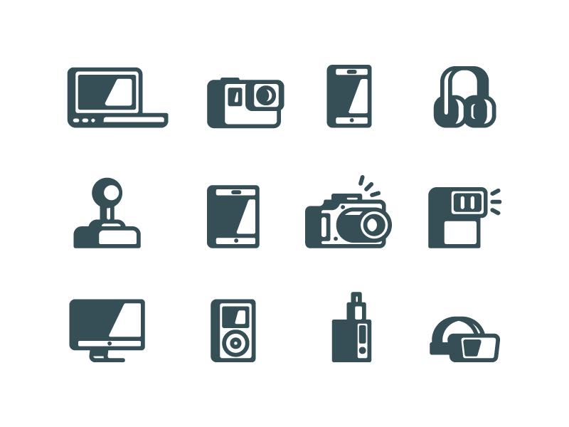 Gadgets icons by Sergey Ershov