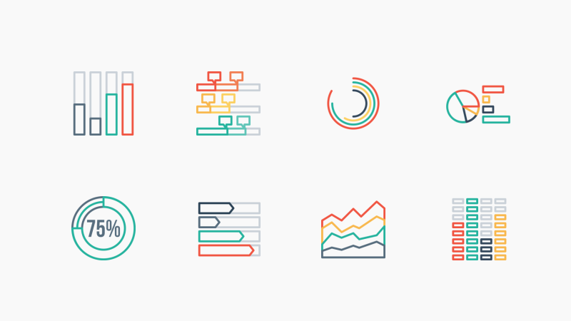 Infographic Elements icon pack by Jemis Mali