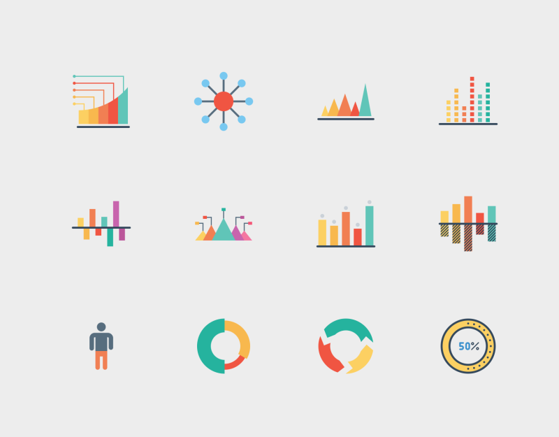 Infographic Elements icon set by Jemis Mali