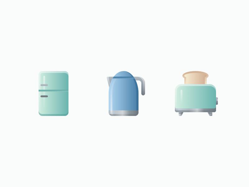 Kitchen icons by Denis Rodchenko