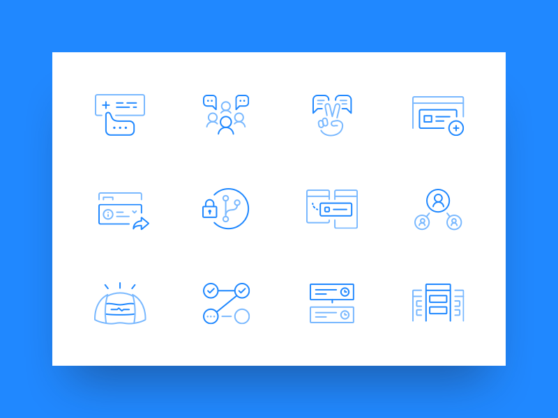 Landing page icons for GitHub by Emily