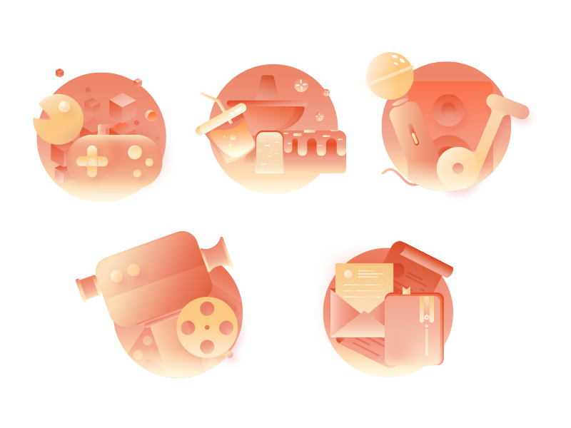 Multimedia icons by Cat-xuan