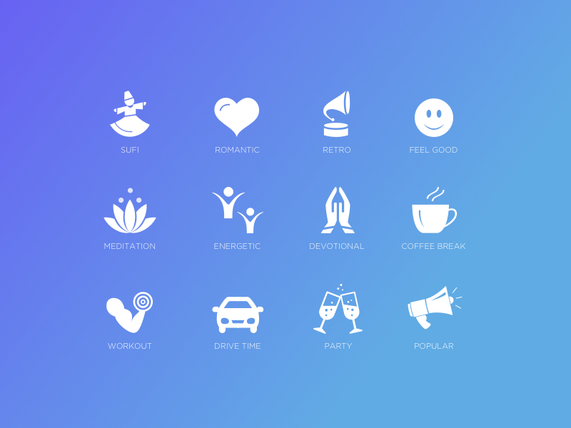 Music Moods icon set by Anchita