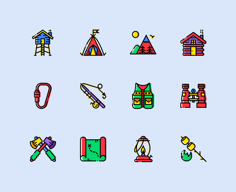 Outdoor places icon collection by Smashicons