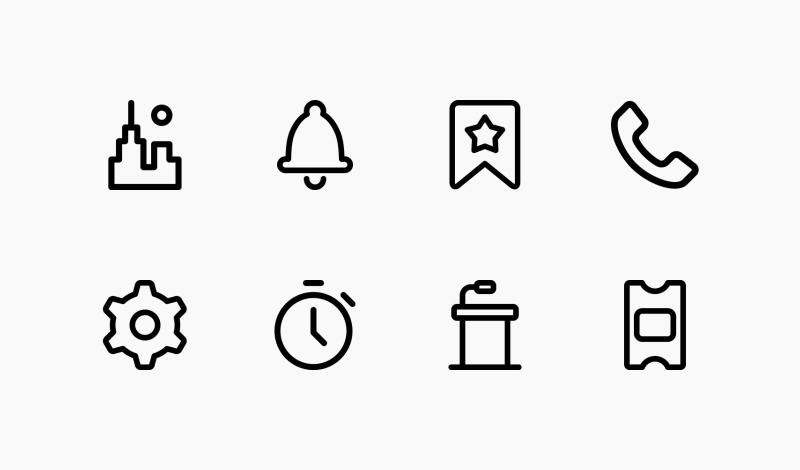 Pixel Perfect User Interface icon collection by Andrejs Kirma