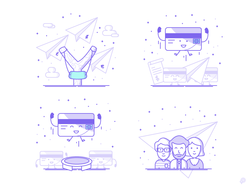 Qonto Landing page icons by Petr Had