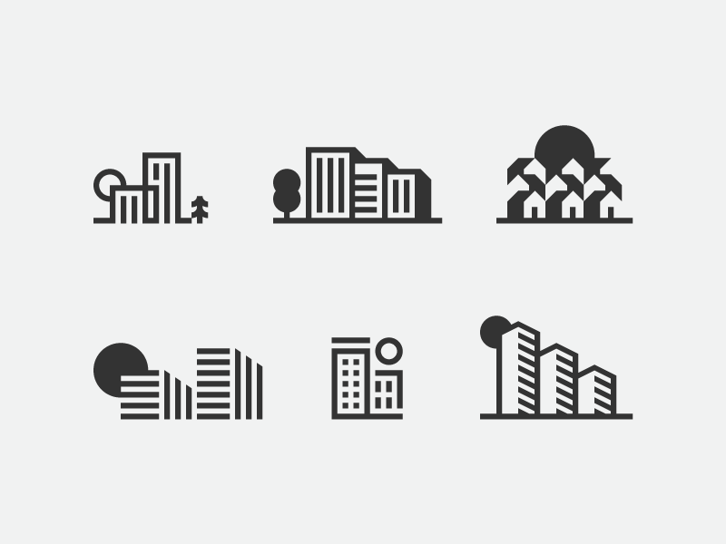 Real Estate Vector icon Set by Nadia Castro