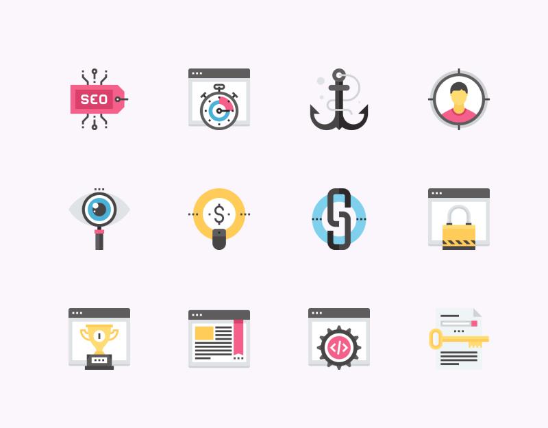 SEO And Web Optimization icon collection by Maxim Basinski
