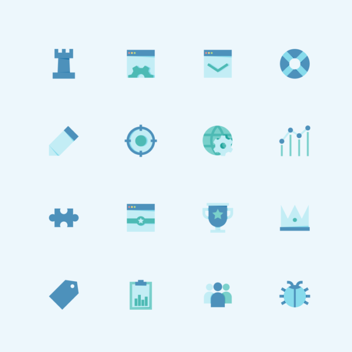 SEO Flat icon collection by Inipagi Studio