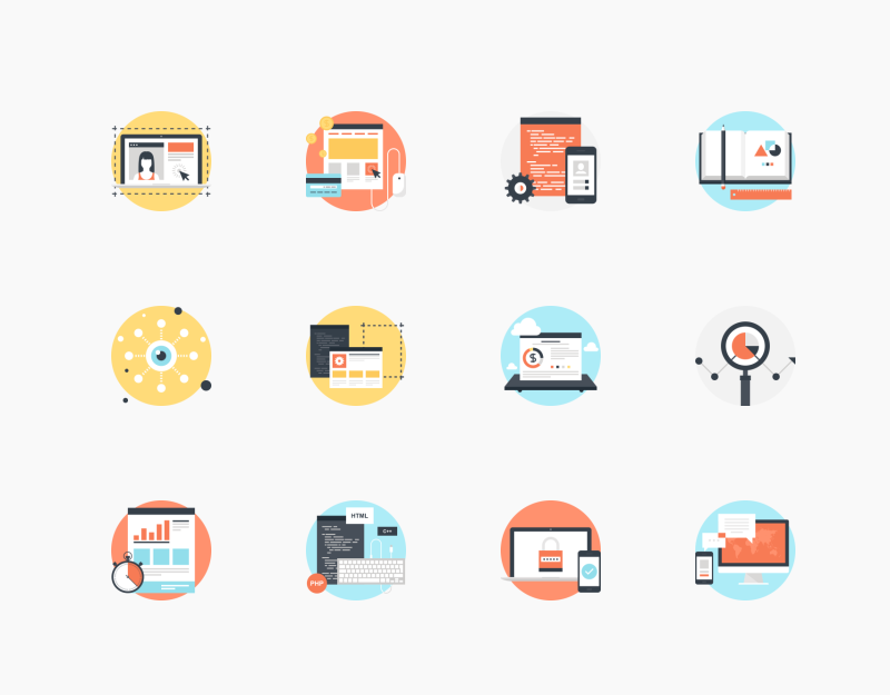 SEO and Development icon collection by Maxim Basinski