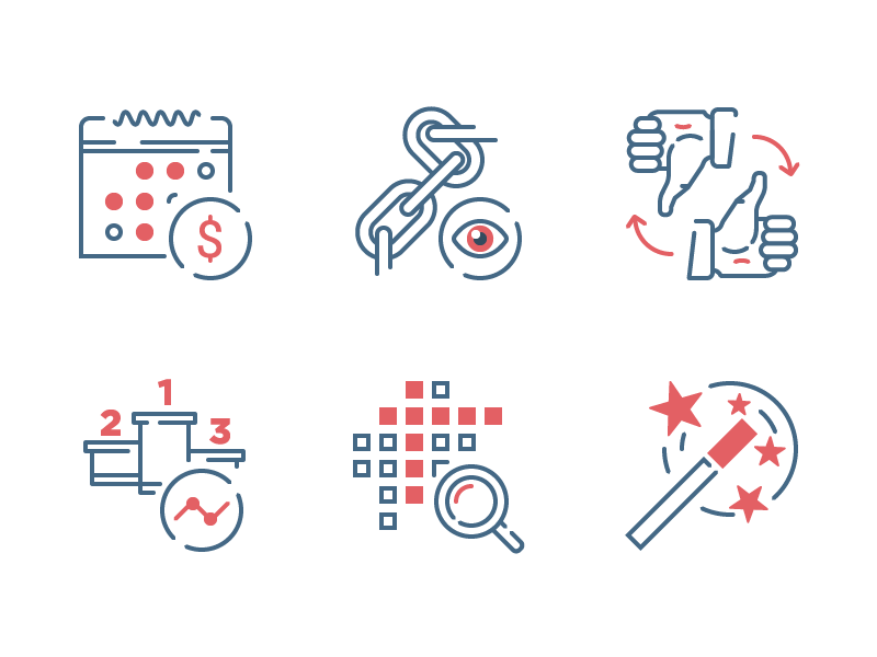 SEO and Development icons by Evgeniy Artsebasov