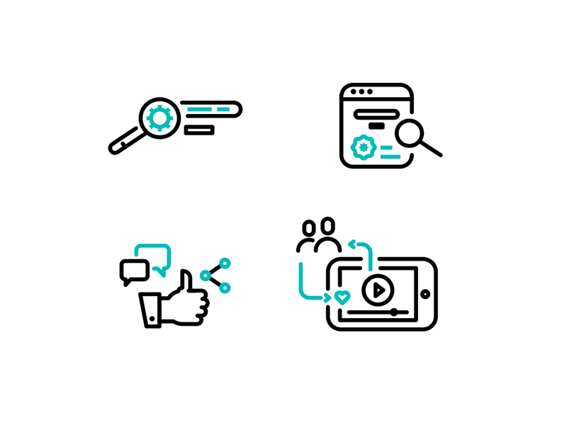 Search Engine and Social Media icons by Jens Amende