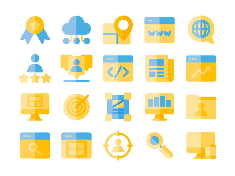 Seo & Online Marketing Icon pack by Inipagi Studio