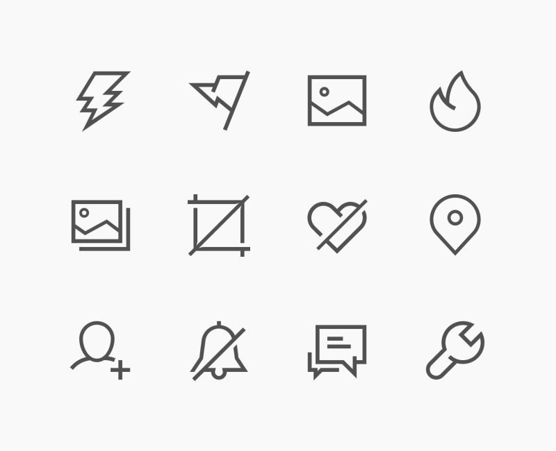 Simple Outline UI icon collection by Kirill Kazachek
